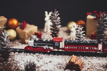 Christmas Toy Train With Decor...