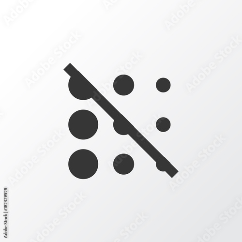 Circle Icon Symbol Premium Quality Isolated Blur Off Element In
