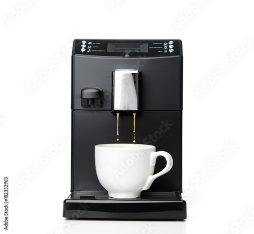 Espresso and americano coffee machine maker Fototapet