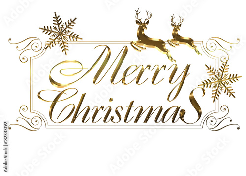 Merry Christmas Writing Images.Merry Christmas Logo Of Gold Metallic Relief Like Cursive