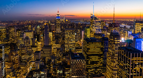 Fotografie, Obraz  New York Skyline Manhatten Cityscape Empire State Building from Top of the Rock