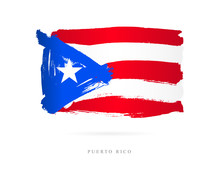 Flag Of Puerto Rico. Abstract ...