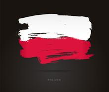 Flag Of Poland. Abstract Concept