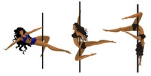 Pole Dancer Fitness African Girls