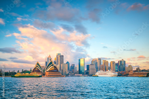 Downtown Sydney skyline in Australia