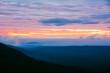 Sunrise in mountains landscape