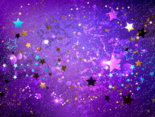 Purple Background With Stars