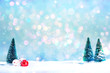 Christmas trees and little bauble decoration ornaments