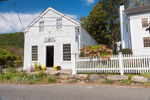 Old Tollhouse In Fall, New Eng...