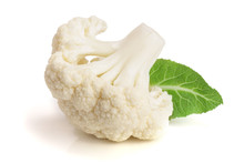 Piece Of Cauliflower With Leaf...