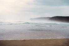Foggy Beach Ocean