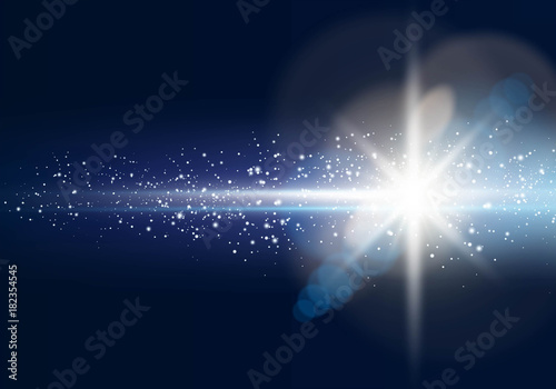 Obraz Glowing light star with lens flare - fototapety do salonu