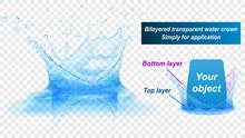 Translucent Water Splash Crown...