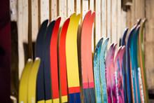 Ski Shop Sale. Rows Of  Colour...
