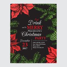 Invitation Card For A Christma...