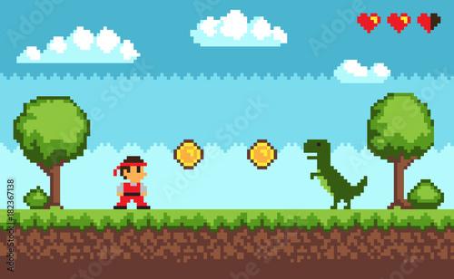 old-style-pixel-game-na-ilustracji-wektorowych-niebieski