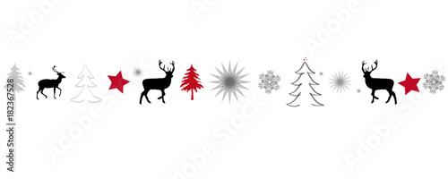 Fotografía Weihnachtskarte Banner Band mit Weihnchtsmotiven als Hintergrund