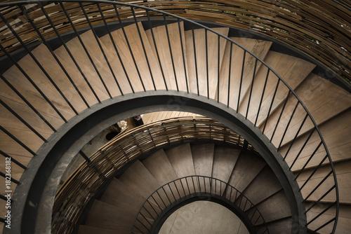 Papiers peints Spirale Spiral circle Staircase decoration interior