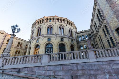 Parlaments-Gebäude (Stortinget), Oslo, Norwegen
