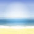 Beach and blue sea. Summer tropical background.