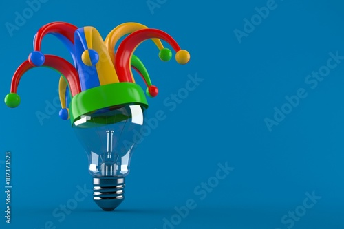 Photo Light bulb with jester hat