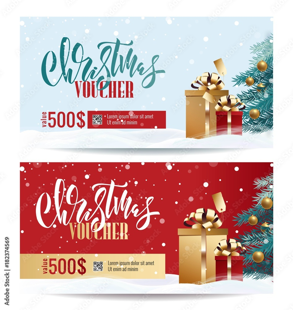 Christmas Gift Card Poster.Photo Art Print Christmas Gift Voucher Coupon Discount