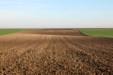 Plowed Field Landscape Autumn ...