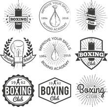Boxing Club Badge Set