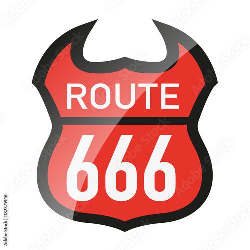 666 - route 666 - diable - enfer - Satan - symbole - Amérique Poster
