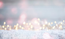 Ethereal Christmas Background With Sparkling Bokeh