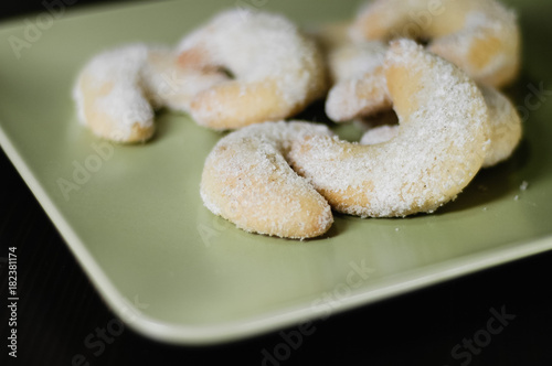 Close Up Of Homemade Traditional German Christmas Cookies Called