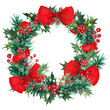 Watercolor Christmas wreath