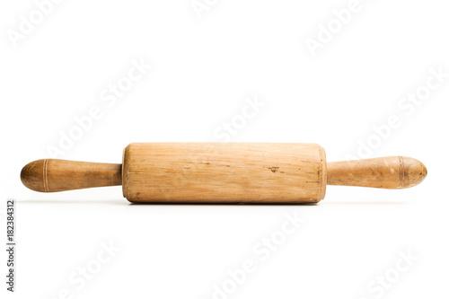 Fotografía  Rodillo de cocina de madera