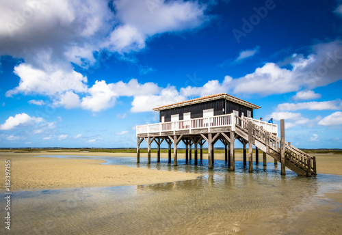 beautiful house in the basin of Arcachon Canvas Print