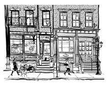Houses In Greenwich Village Ne...