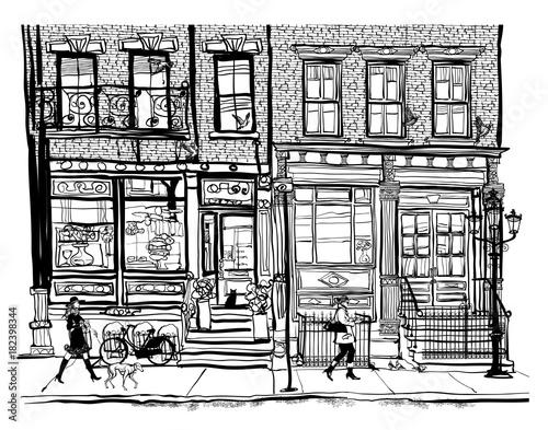 Aluminium Prints Art Studio Houses in Greenwich Village New York City