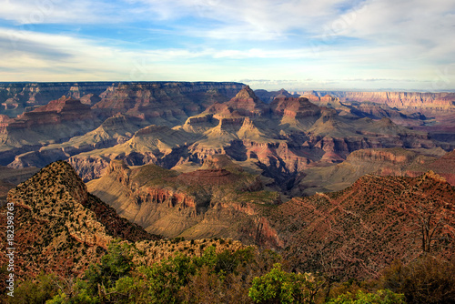 Carta da parati Grand Canyon National Park: Grandview Point with blue sky in background