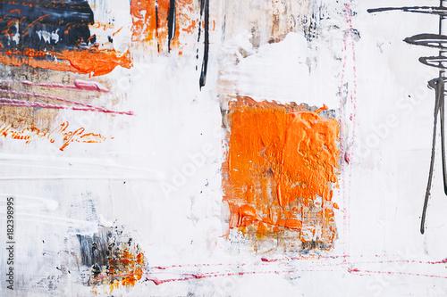 Valokuva  Arrière plan touches de peinture abstraite sur un mur