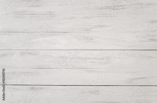 Obraz white table top view and panel banner with copy space. - fototapety do salonu