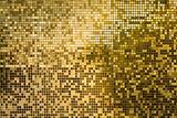 Złoto mozaiki kwadratowe płytki dla tekstury tła - 182403550