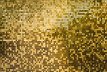 Gold Square Mosaic Tiles For Texture Background