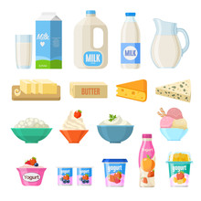 Vector Collection Of Dairy Pro...