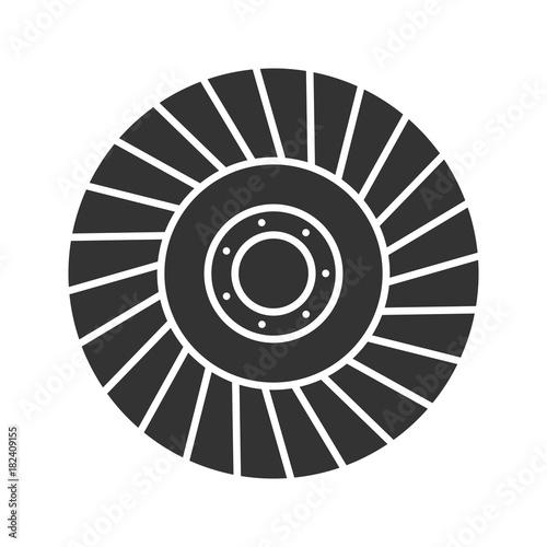 Leinwand Poster Abrasive flap wheel glyph icon
