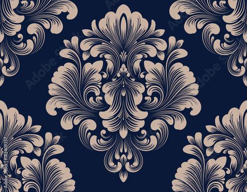 Vector damask seamless pattern element Poster Mural XXL