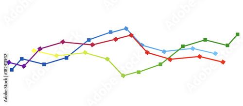 Photo grafico economia, istogrammi, statistiche
