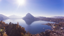 Panorama From Terrace Over Lugano