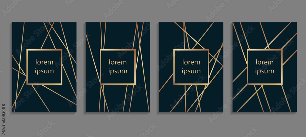Fototapeta Set of luxury cover templates. Vector cover design for placards, banners, flyers, presentations and cards