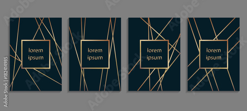 Fotografia Set of luxury cover templates