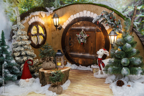 Fotografie, Obraz  New Year's house of a gnome / hobbit. Studio photography