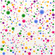 Multicolored festive 3d confetti on a transparent background. Bright glossy flying isolated balls for holiday design